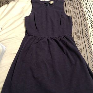 J.crew navy baby doll dress